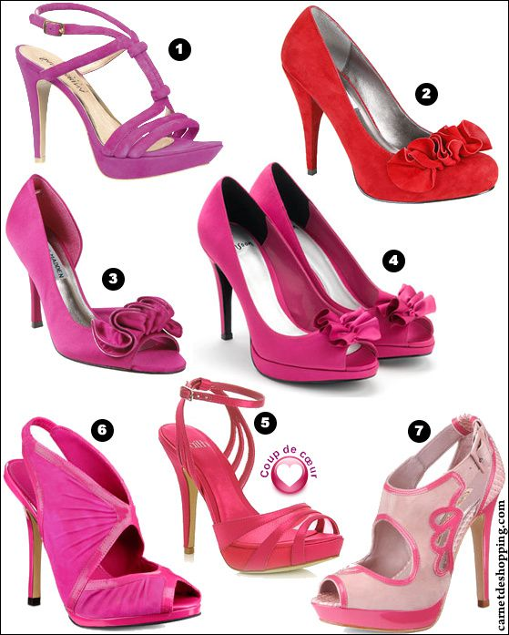 selection chaussures fuchsia