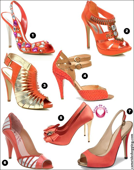 selection chaussures orange