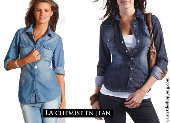 laredoute chemise-jean soldes