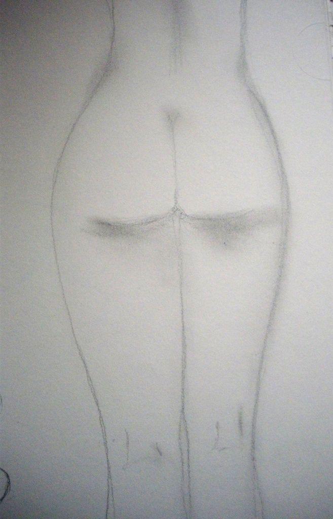 le dessin du jour femme nue de dos au crayon hb f claire l 39 f est claire claire frelon. Black Bedroom Furniture Sets. Home Design Ideas