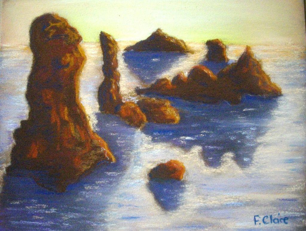 belle ile en mer quiberon du 30 avril au 6 mai tableau pastel sec f claire l 39 f est. Black Bedroom Furniture Sets. Home Design Ideas