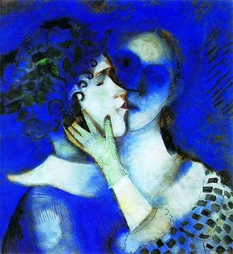 Lovers in blue chagall