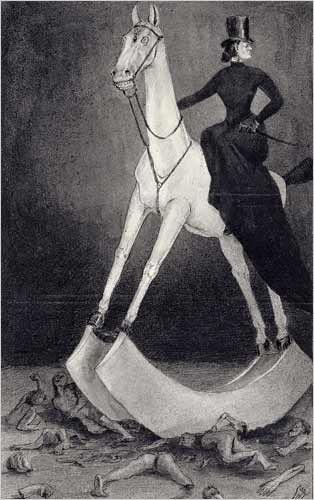 kubin-dame à cheval