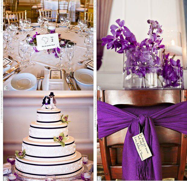 d co de mariage blanche et violette d coration de mariage bapt me et communion. Black Bedroom Furniture Sets. Home Design Ideas