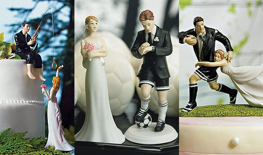 figurine gateau mariage sport foot rugby - Personnage Gateau Mariage Humoristique