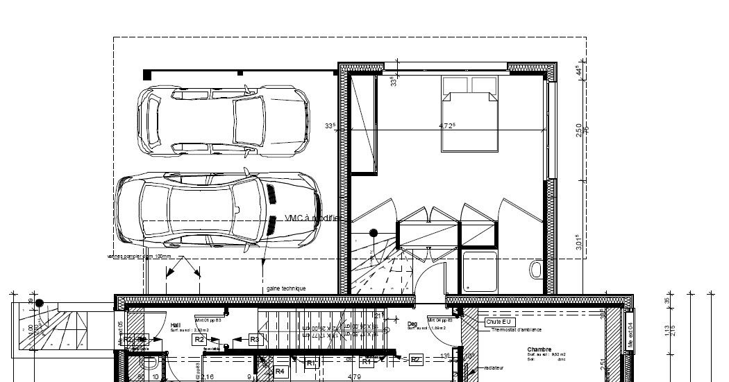 Extensions above garage related keywords extensions for Extension maison plan