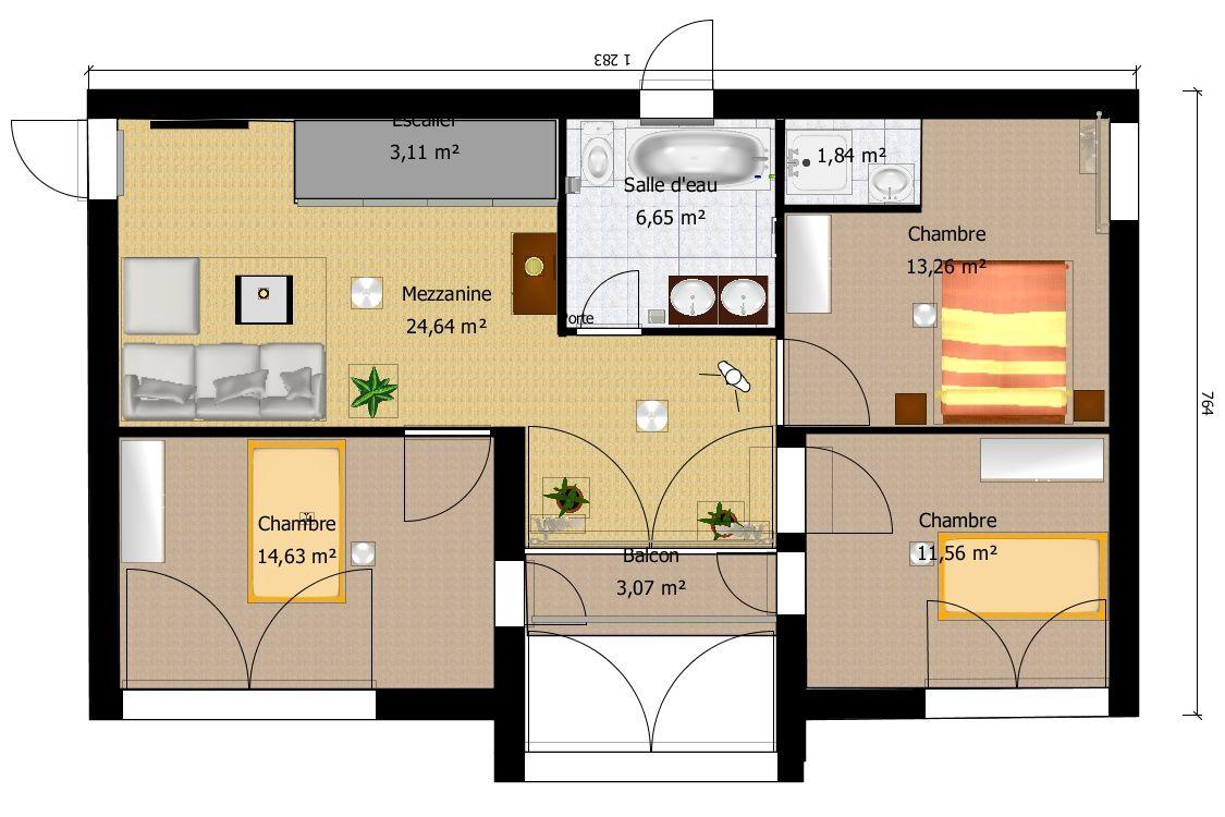 Plans int rieurs construction maison en bois - Plan maison bioclimatique gratuit ...