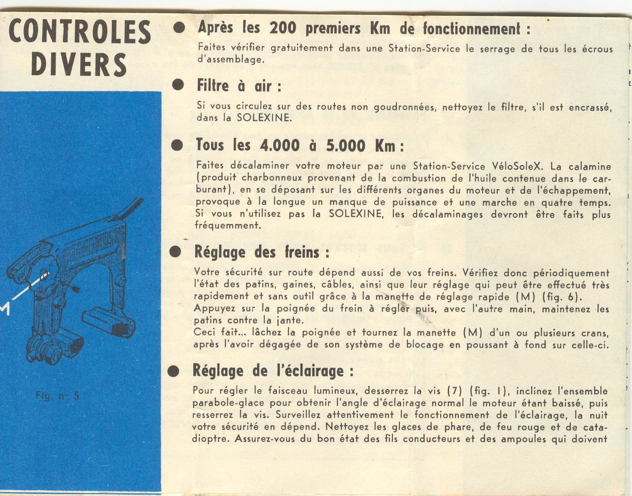 service record book of a solex 2200 of october 1962 solex for always