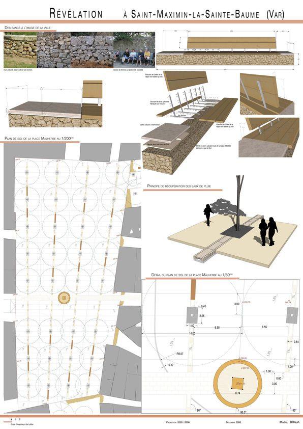 Planches de rendu book de magali braja architecte paysagiste de lullier - Planche concours architecture ...