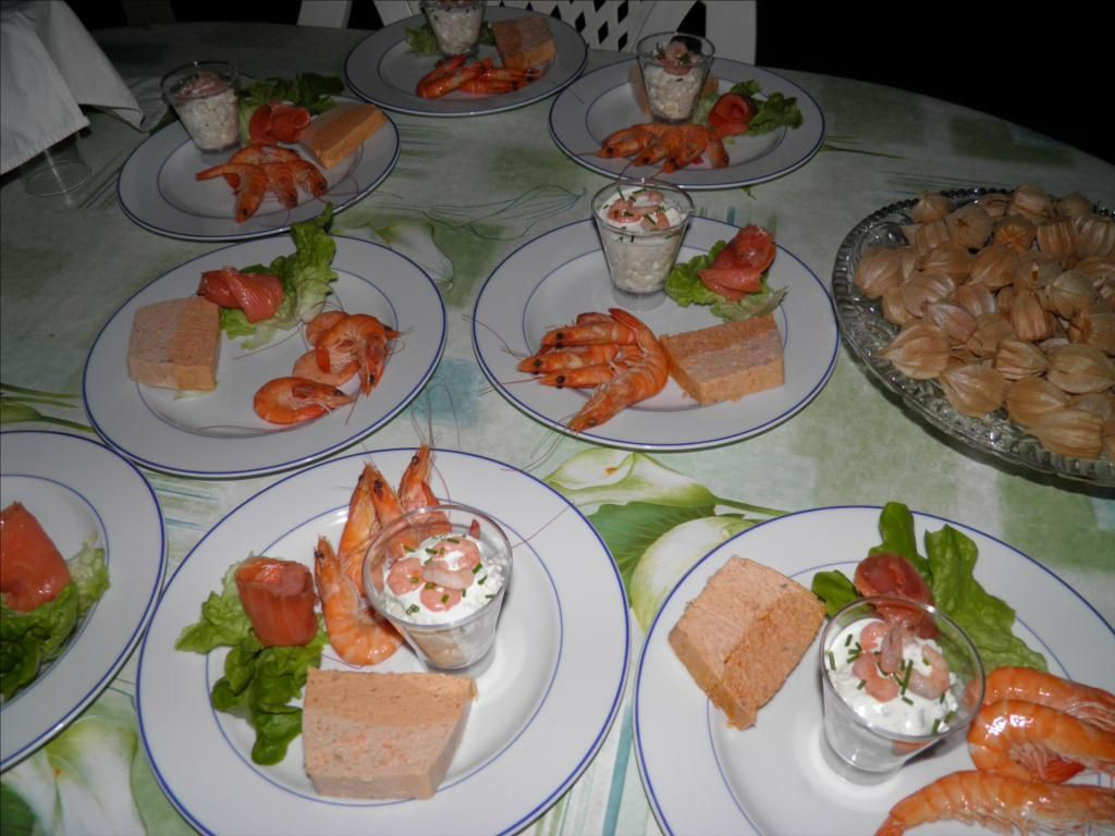 assiette de la mer langoustine et crevettes roses aux agrumes une. Black Bedroom Furniture Sets. Home Design Ideas