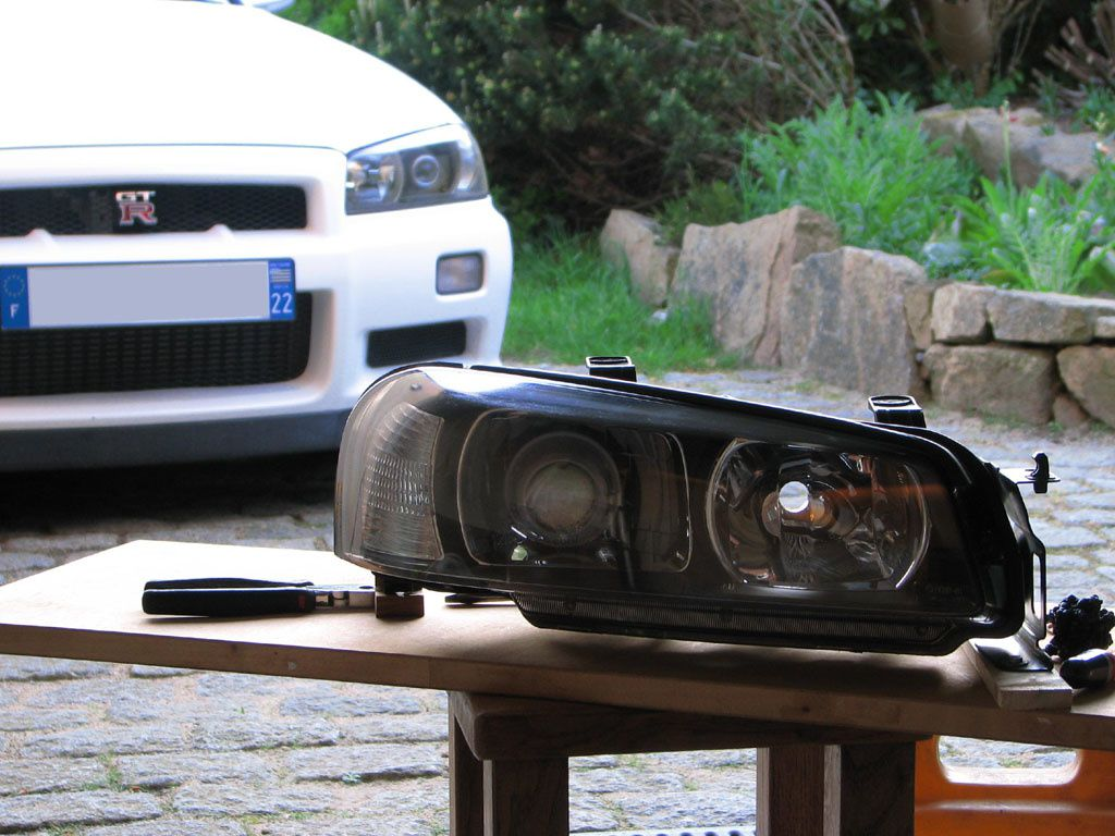 R34 headlight LHD conversion - GT-R Register - Nissan Skyline and GT