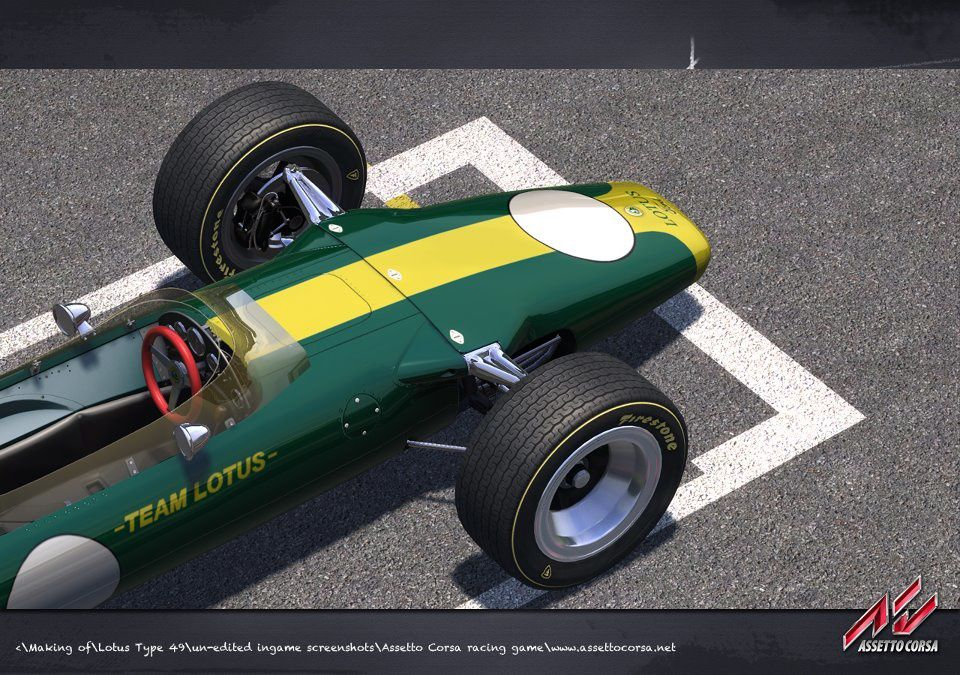 assetto corsa licence lotus 49 the racing line. Black Bedroom Furniture Sets. Home Design Ideas