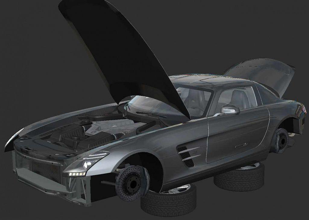 project cars mercedes sls the racing line. Black Bedroom Furniture Sets. Home Design Ideas