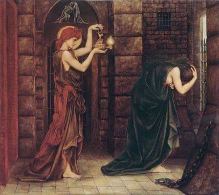 Evelyn de Morgan Hope in the Prison of Despair f