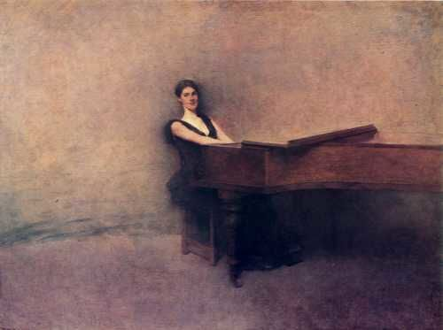 Thomas Wilmer Dewing (1851-1938) The Piano 1891