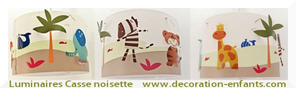 animaux de la savane luminaire chambre enfant lampe casse noisette. Black Bedroom Furniture Sets. Home Design Ideas