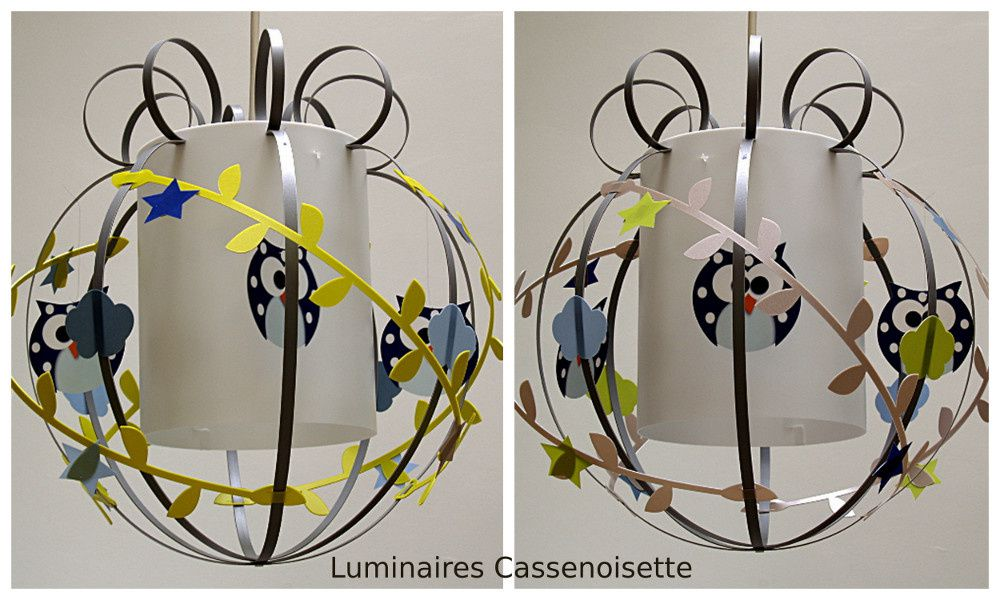 hibou luminaire chambre enfant lampe casse noisette. Black Bedroom Furniture Sets. Home Design Ideas