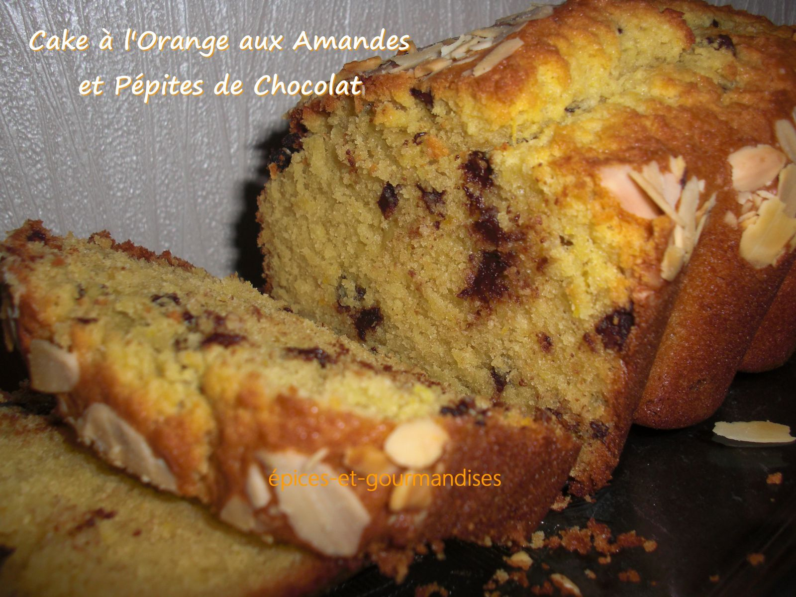 Gateau pepites de chocolat orange