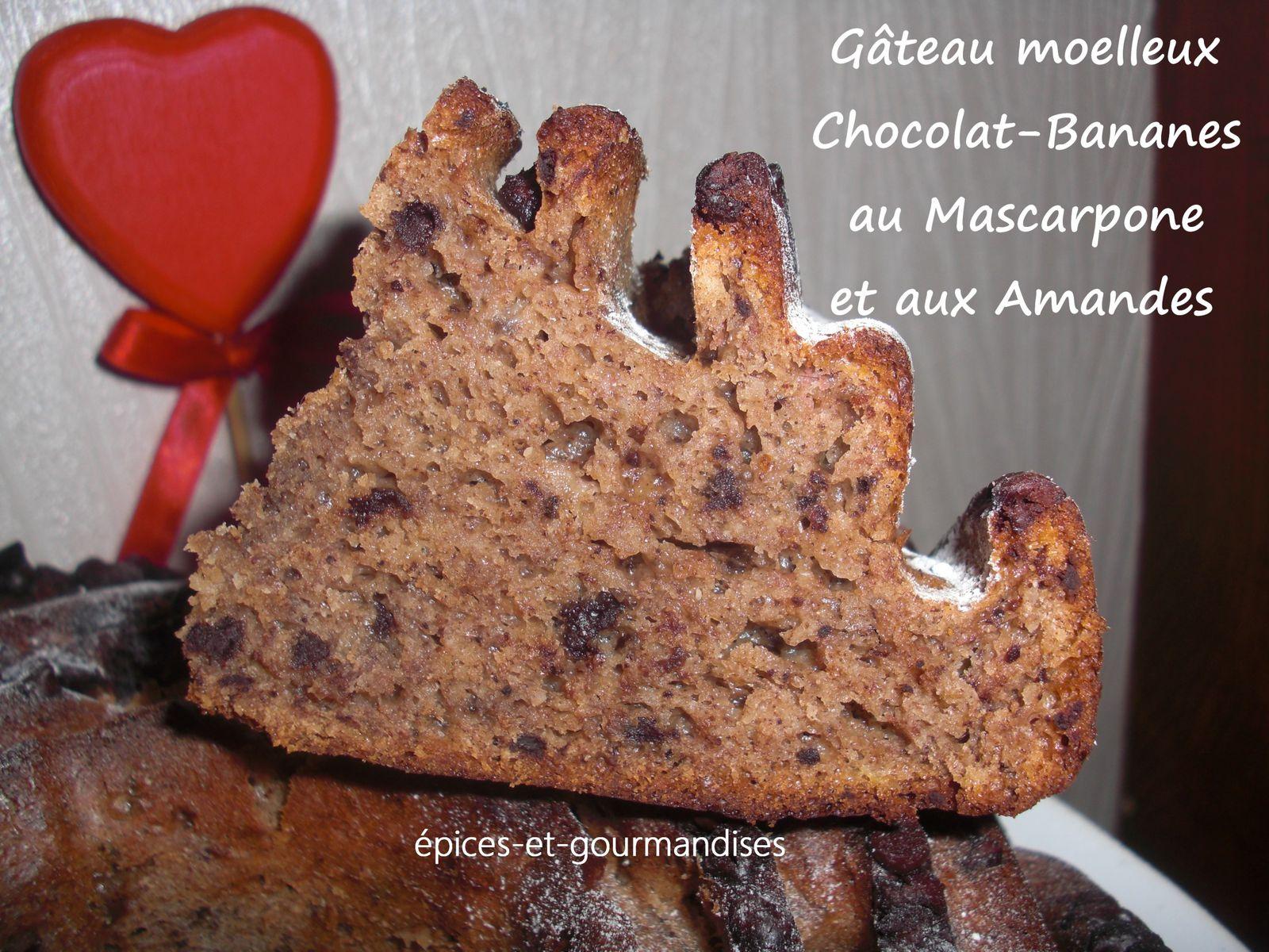 G Teau Moelleux Chocolat Bananes Au Mascarpone Et Aux