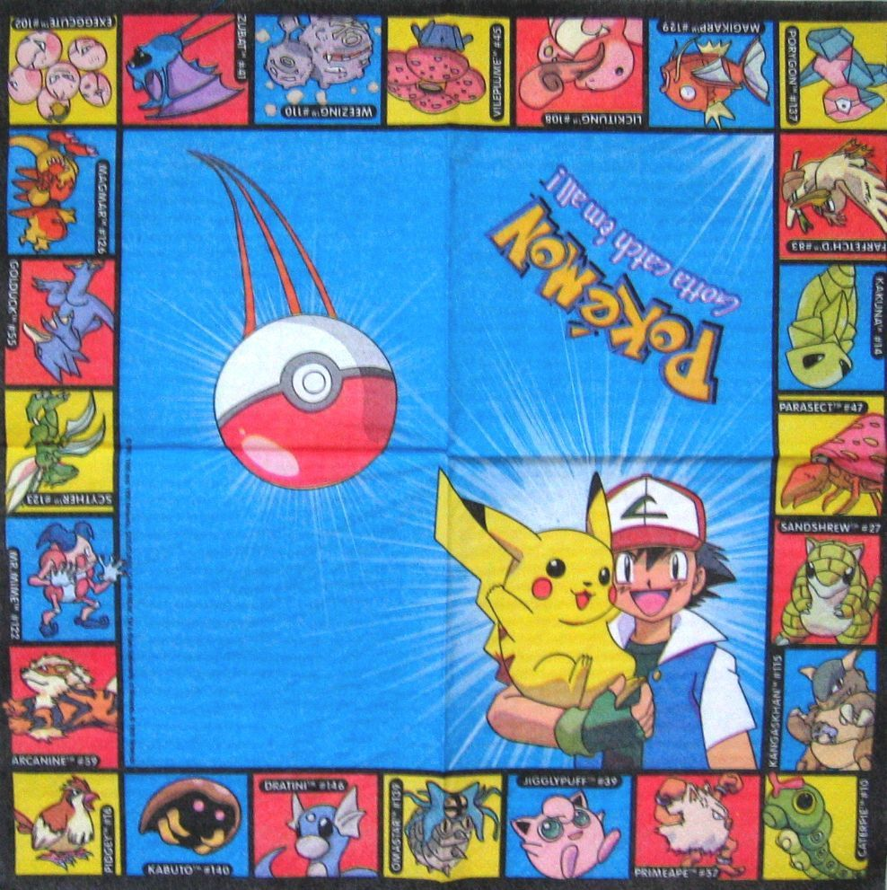 yu gi oh gx jaden pokemon sacha servietten serviette carte napkins nappes lot anniversaire. Black Bedroom Furniture Sets. Home Design Ideas