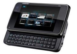 Photo du Nokia N900 montrant le clavier coulissant