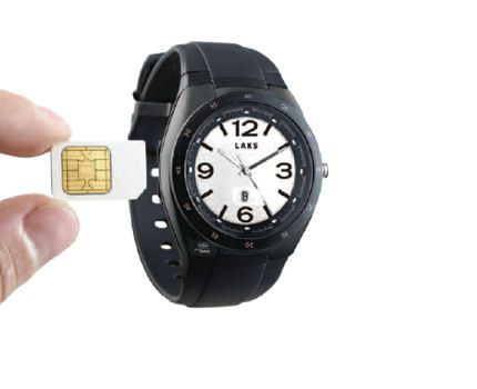 Montre recevant carte SIM et puce sans contact