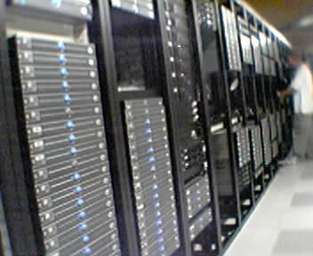 Photos de baies dans un datacenter