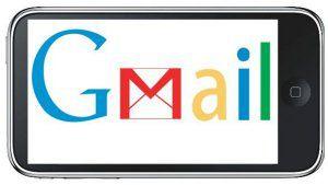 Logo de Gmail affiché sur un écran de iPhone