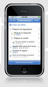 Copie d'écran ggTasks sur iPhone