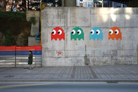 spaceinvader art
