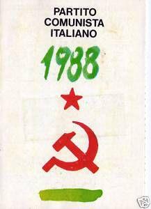 Attraverso le tessere di partito , un'immagine della forza politica comunista nel tempo.PER UNA MIGLIORE VISIONE CLICCARE SULLA FOTO