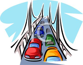 Cars_Driving_Over_a_Bridge_clipart_image.jpg