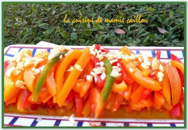 Blog de mariecaillou :LA CUISINE DE MAMIE CAILLOU, Salade de poivrons multicolores.