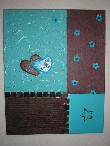 2 me tableau turquoise et chocolat les cr ations d 39 isa for Chambre chocolat turquoise
