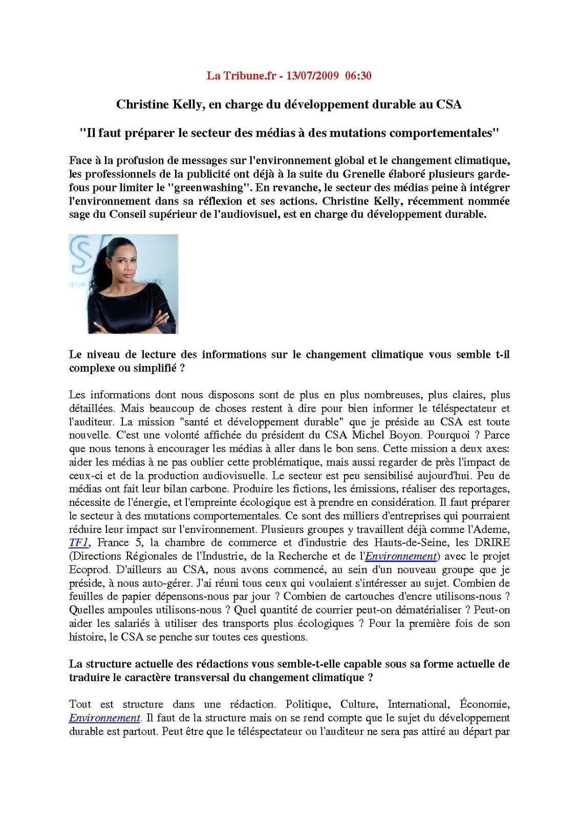 D veloppement durable christine kelly conseil sup rieur - Cabinet de conseil developpement durable ...