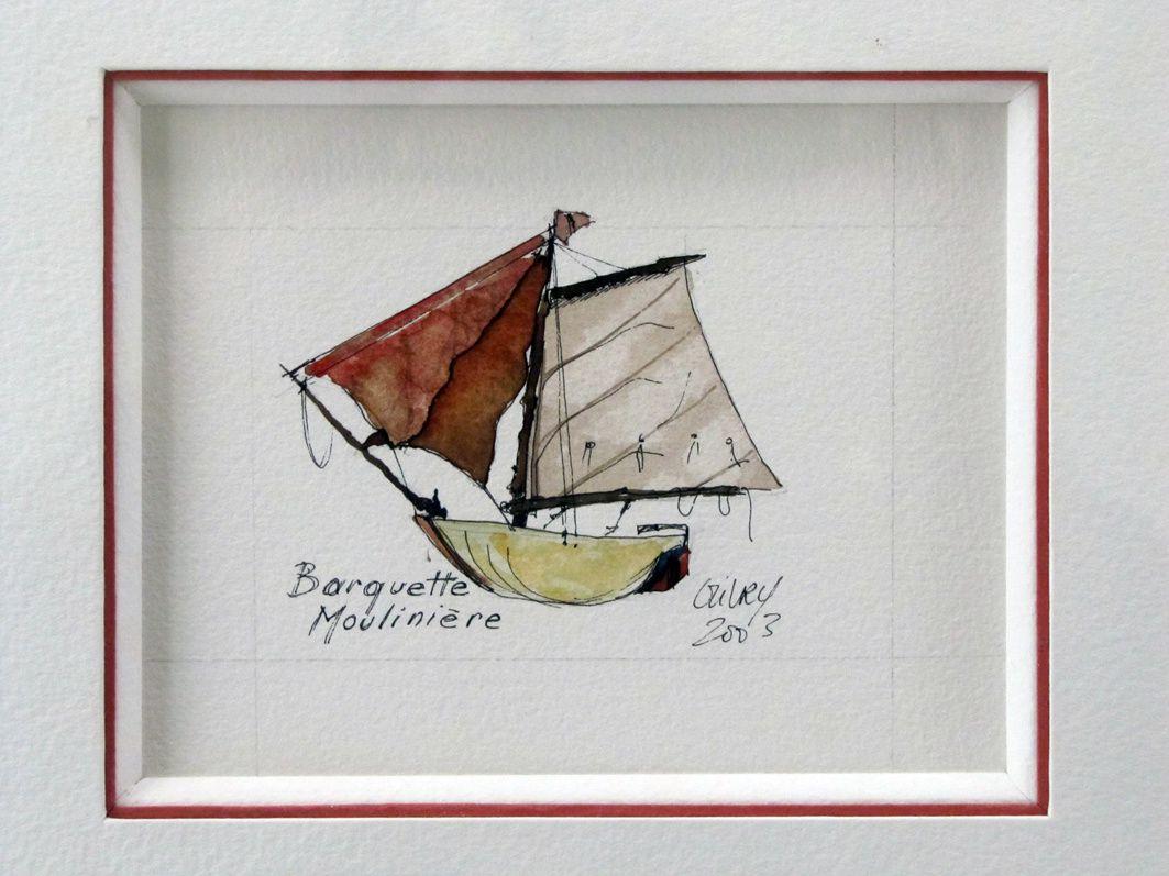 Sculptures et aquarelles (des moules et des feuilles de bananier pour faire des petits objets flottants)