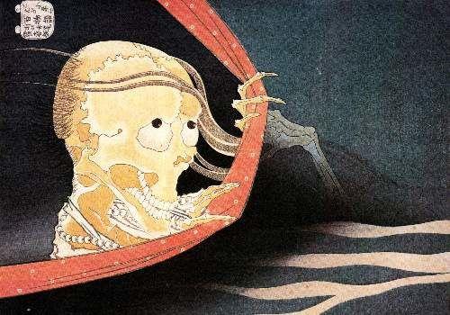 t Hokusai - Weird Skeleton