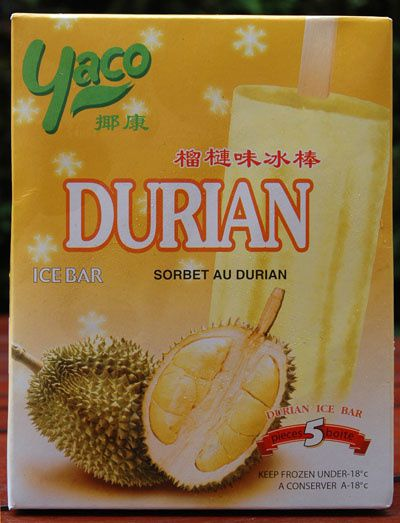 Glace au durian