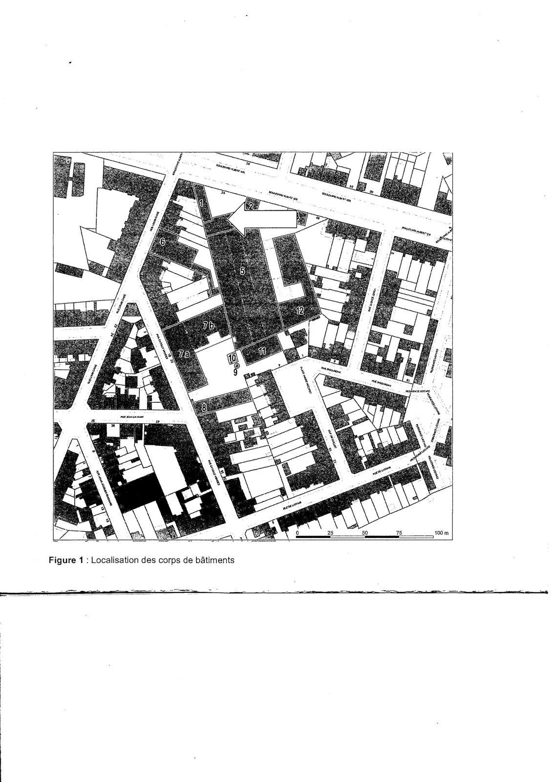 localisation des corps de bâtiments