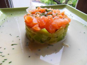D me de poireaux au saumon fum annesogood for Entree gastronomique originale