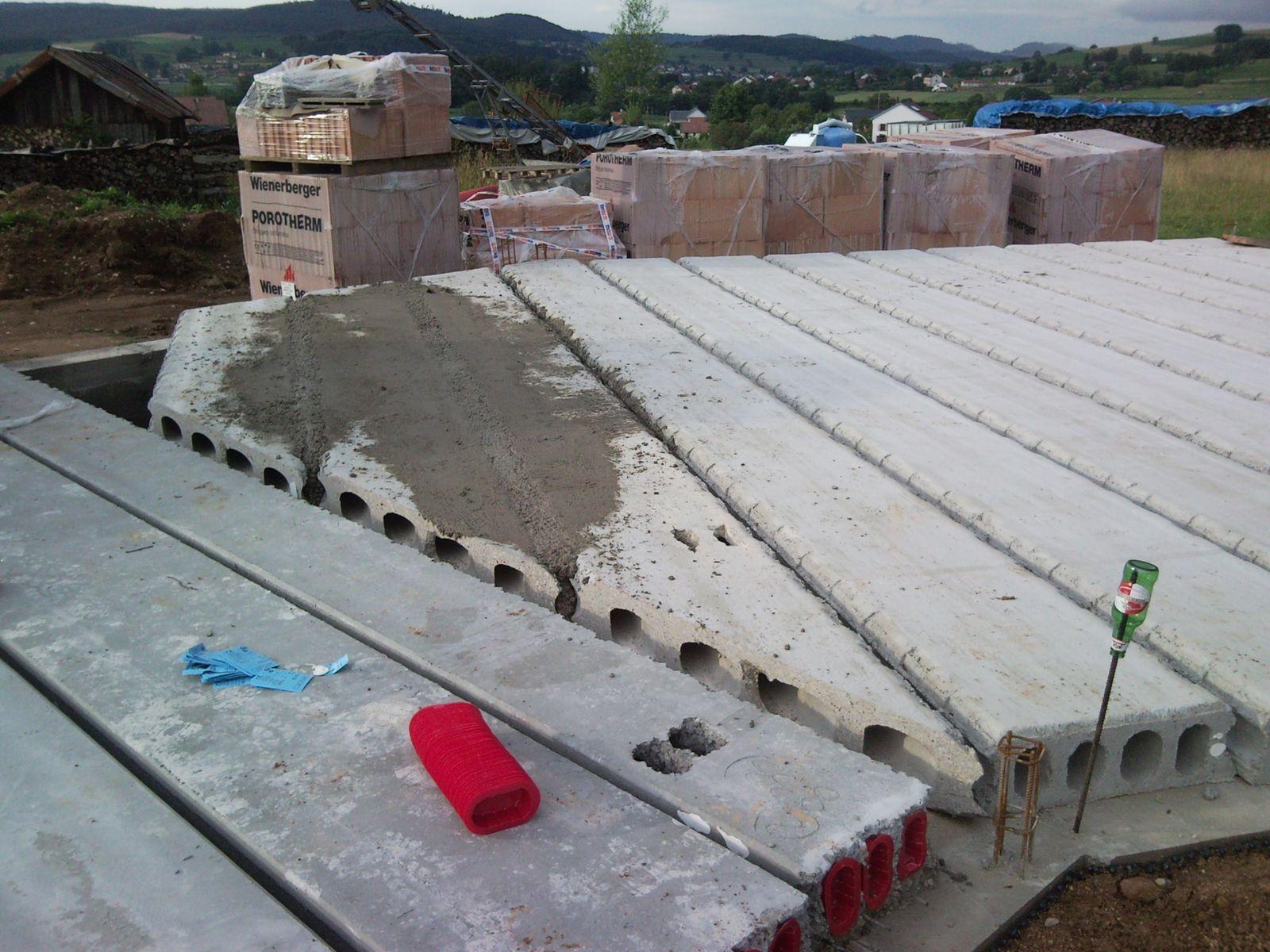 Dalle echo construction maison b ton arm - Construction maison en beton arme ...