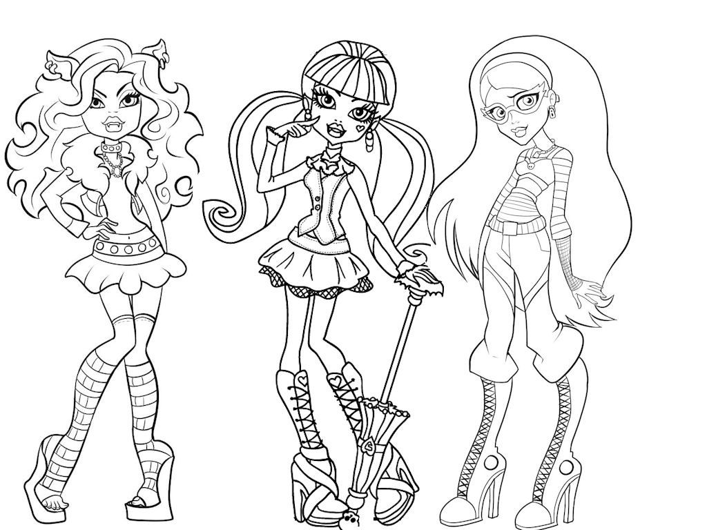 Coloriage MONSTER HIGH - Draculaura - Coloriage, dessin et