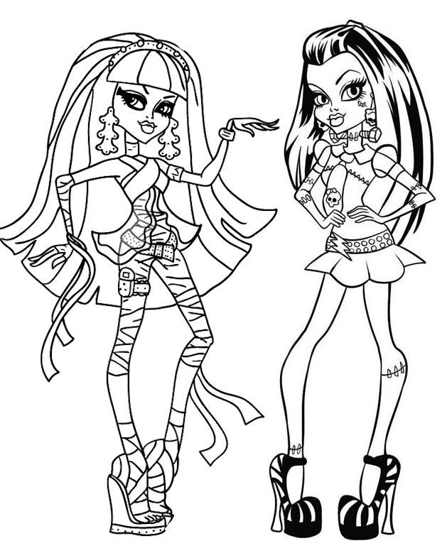 Coloriage monster high linh - Coloriage de monster ...