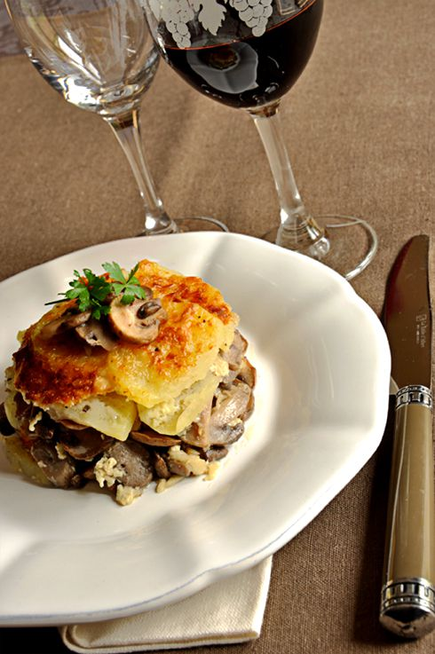 gratin dauphinois aux champignons de paris recette facile la cuisine de nathalie la. Black Bedroom Furniture Sets. Home Design Ideas