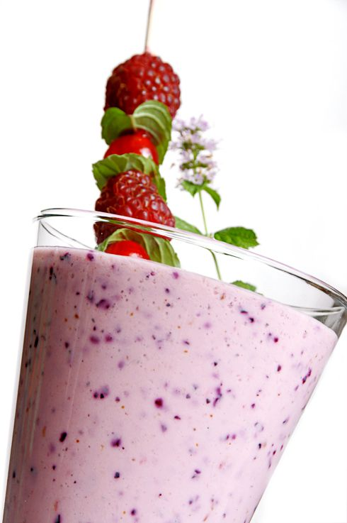 Smoothie fruits rouges haut