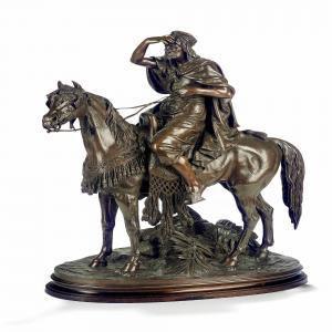 pautrot ferdinand-cavalier arabe guettant~