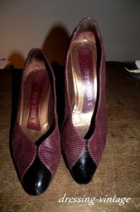 escarpin bordeaux 37,5