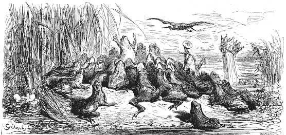 Illustration des Fables de La Fontaine par Gustave Doré (1832-1883)