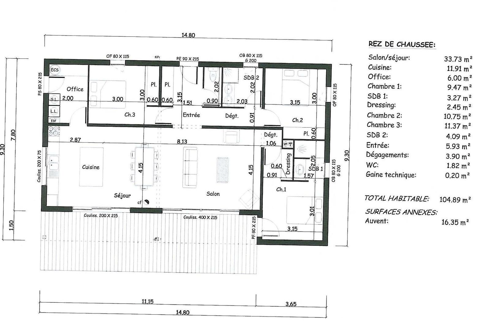 Type de maison maison de maitre property for sale with for Plan maison monopente