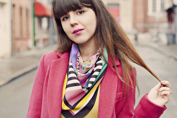 foulard lucy jay escarpins carvela manteau rose ventilo (4)